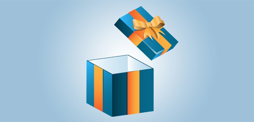 Create an Opened Gift Box Icon in Illustrator