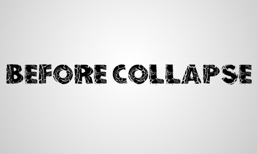 collapse free crack fonts