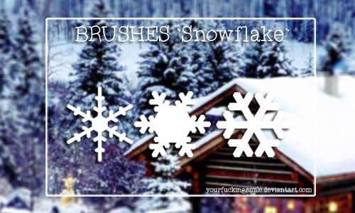 free snowflakes brush