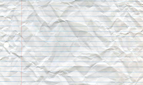 Crumpled Looseleaf Paper
