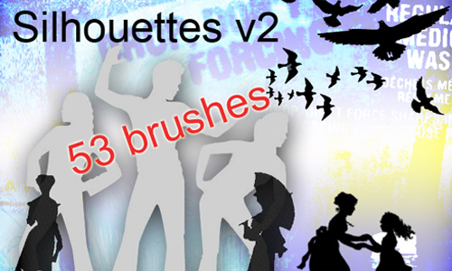 Silhouette brushes V2