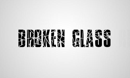 crack font free broken glass
