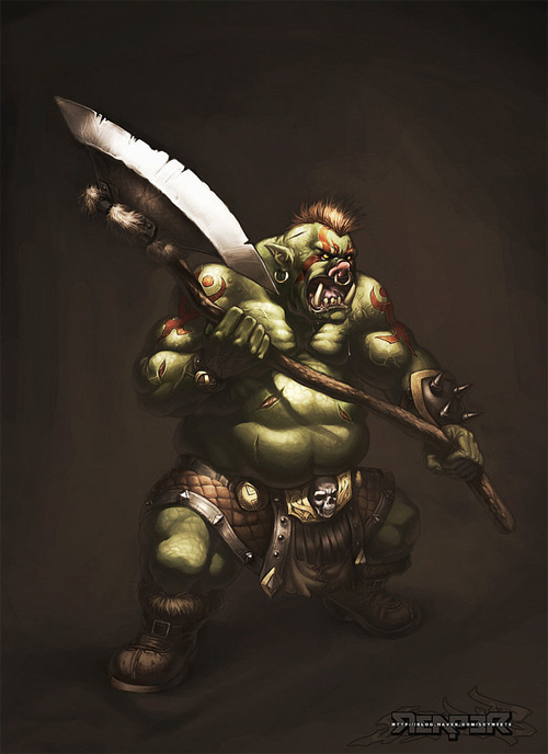 fantasy orc warrior