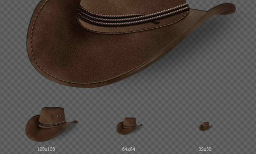 Cowboy hat icons design
