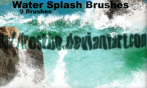 Water Splash Brushes PS SET 1