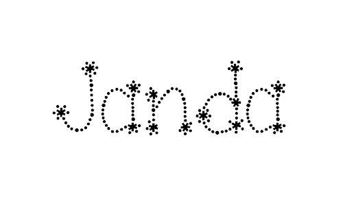 Janda Sparkle and Shine font
