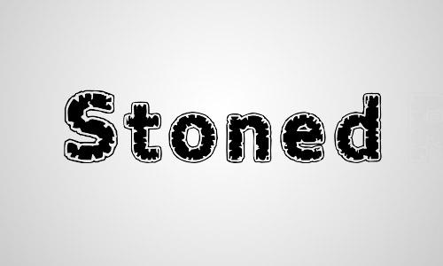 stoned glass crack font