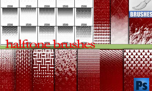 halftone ornament brushes
