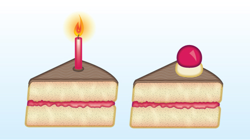 Creating a Slice of Cake Icon with Adobe Illustrator
