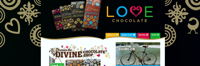 A Round-up of Yummy Chocolate Website Designs
