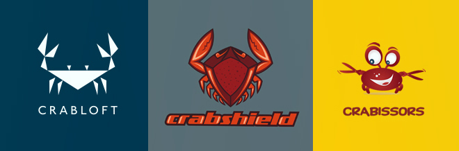 A Collection of Striking Crab Logo