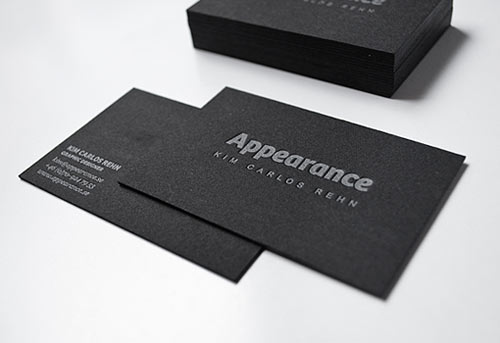 Black Letterpress Design
