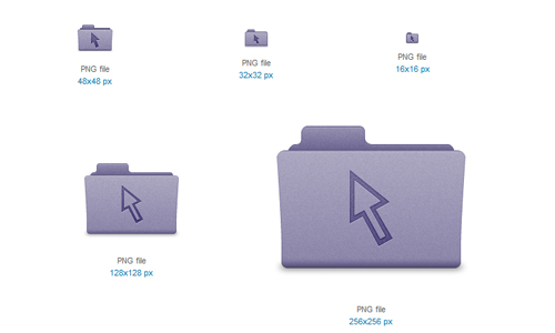 Purple Cursor Folder Icon
