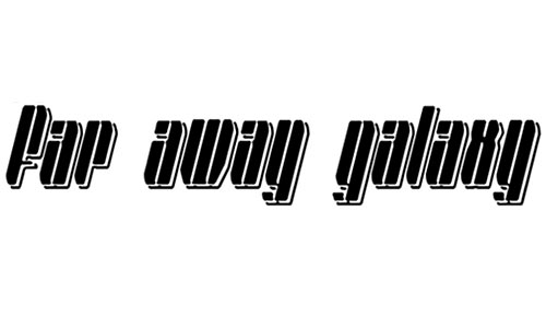 Far Away Galaxy font