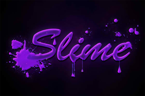 Quick and Easy Slimy Text In Adobe Photohshop