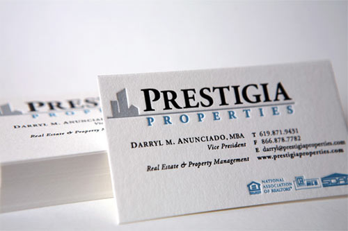 Prestigia Properties Real Estate Property Management Business Cards