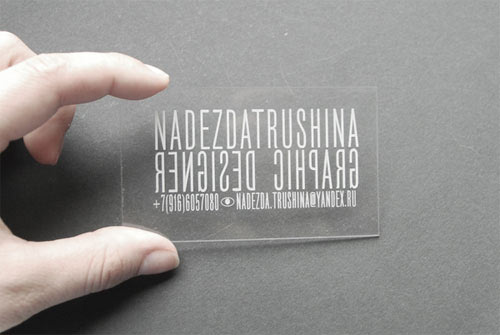 Business Card for: Nadezda Trushina