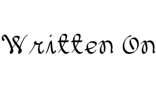 Written On The Hand font