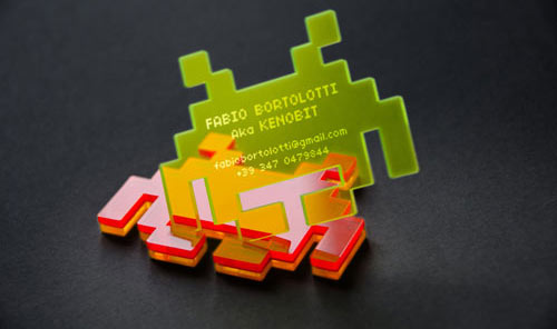 Space Invaders Business Card Design