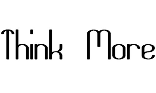 Think More for Solution font
