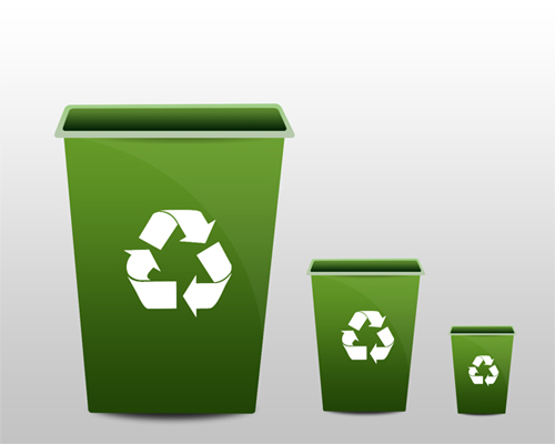 HOW TO DESIGN SOFT GREEN RECYCLE BIN ICON IN PHOTOSHOP