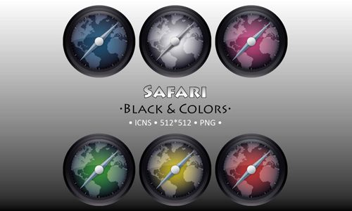 Safari Black and Colors