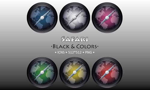 Safari Black and Colors