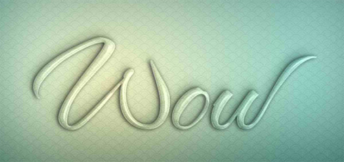Glass Text Effect in Photoshop Using Layer Styles