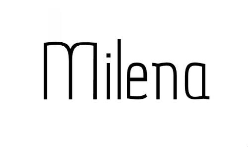 Milena Sans font