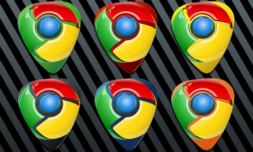 Google Chrome Guitar Pick Icon