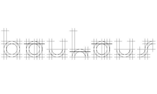 bauhaus sketch font