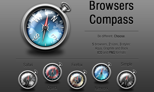 Browsers Compass Icon Pack UD