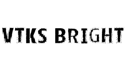 VTKS BRIGHT font