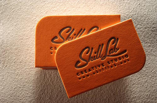 35 new examples of unusual business cards naldz graphics bold orange letterpress business card reheart Images