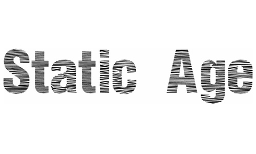 Static Age Horizontal Hold font