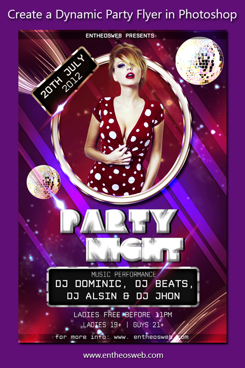 Learn How to Create a Dynamic Party Flyer in Photoshop