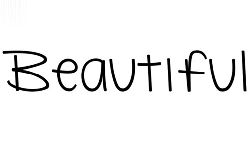 Beautiful Flaws font