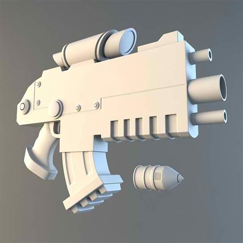 Modeling A Futuristic Bolt Gun In 3D Studio Max