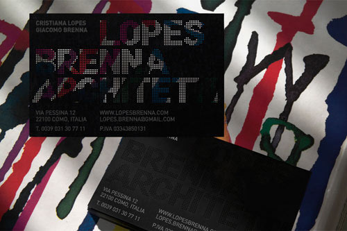 Business Card for: Lopes Brenna Architetti