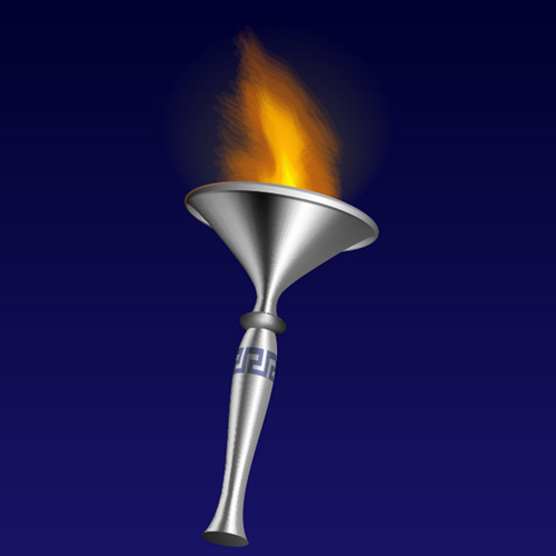 How to Illustrate a 3D Fire Torch