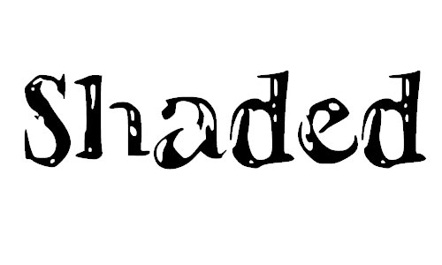 shadedletters font