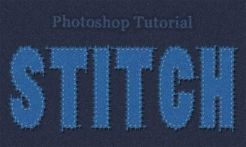Stitch Text in Photoshop