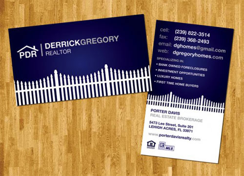 D. Gregroy Real Estate Business Card