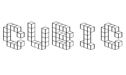 Demon Cubic Block Font