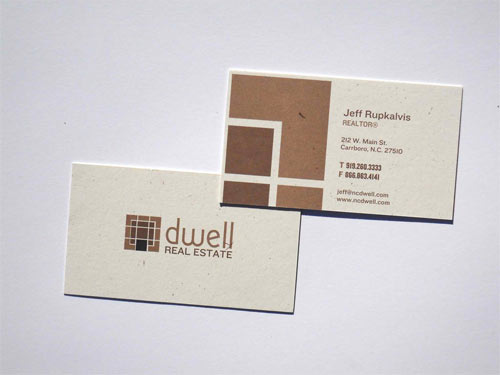 Dwell Real Estate business card