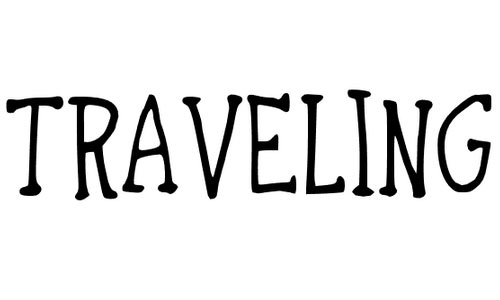 traveling through font