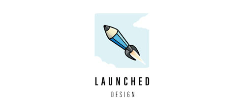 Launched Design logo