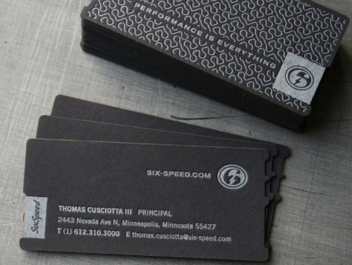 Six Speed Business Card