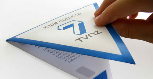TVNZ 7-Triangular folding brochure