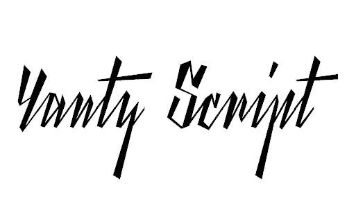 Yanty Script Demo font
